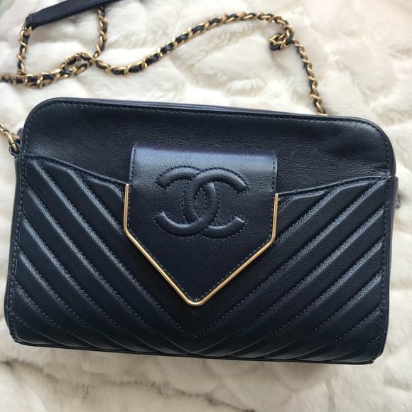0810f440bd66 CHANEL Handbags - Authentic 100% navy CHANEL cross-body bag